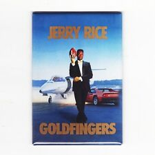 """JERRY RICE / GOLDFINGERS - 2"""" x 3"""" COSTACOS POSTER MAGNET (nike 49ers montana)"""