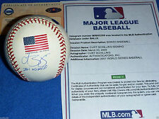 ARIZONA DIAMONDBACKS CURT SCHILLING 2001 WS MVP SIGNED FLAG BASEBALL STEINER MLB