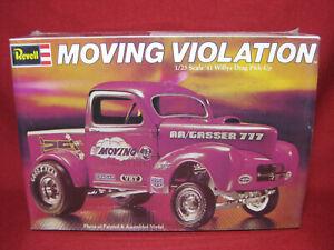 1941 Willys Moving Violation Drag Racer Pickup '41 Gasser Revell 1:25 Kit H-1336