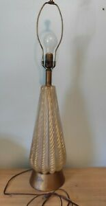 Murano Gold Dust Glass Table Lamp, 1950's