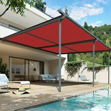 12'*15' Sunblock Shade Cloth Roll,Red Sun Shade Fabric 90% Uv Resistant