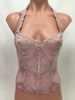Victoria's Secret Lace Unlined Bustier Corset - Lavender - Size XS / S / L - NWT