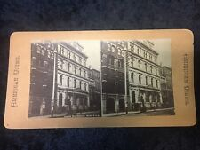 Antique New York City NYC -Stock Exchange Building -American Views Co Stereoview
