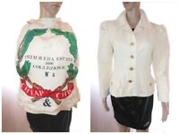 MOSCHINO Vtg 90s Women Cheap and Chic Cotton Fitted Blazer Jacket sz 12 M AF61