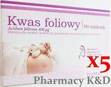Kwas Foliowy 0,4 tabl90*5