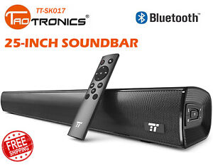"""TaoTronics 25"""" Sound Bar Wired and Wireless Bluetooth Audio Speakers V SB09"""