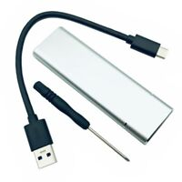 Aluminium M.2 NGFF SSD SATA TO USB 3 External Enclosure Storage Case Adapter -UK
