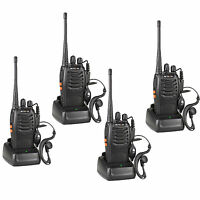 4X Retevis H-777 Walkie Talkie UHF400-470MHz 5W 16CH Single Band 2-Way Radio USB