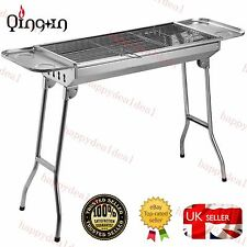 Folding BBQ Charcoal Barbecue Grill Garden Picnic Cooking Stainless Steel