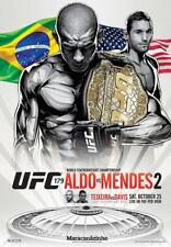 UFC 179 Official Full-Sized Event Poster JOSE ALDO v CHAD MENDES 2 Rio 10/25/14