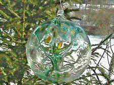 "Hanging Glass Ball 6"" Diameter ""Winter Tree"" Witch Ball (1)"