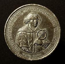 Polen, große Zinnmedaille 1873, von Below, auf Nikolaus Kopernikus, R!