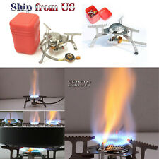 3500W Portable Burner Gas Propane Stove Camping Ignition Cooking Hiking Pinic