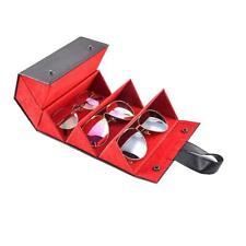 5 Slots Foldable Leather Sunglasses Eyeglasses Travel Organizer Case Container