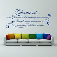"""Wandtattoo """"Zuhause ist wo die Liebe wohnt"""" Spruch Wohnzimmer Wanddekoration"""