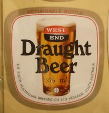 OLD AUSTRALIAN BEER LABEL, SA BREWING Co WEST END DRAUGHT 375ml