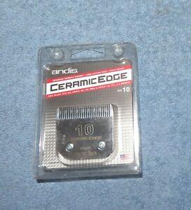 "Andis Professional Ceramic Edge 1/16"" 1.5mm Detachable Pet Clipper Blade Size 10"