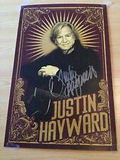 "Original Signed Justin Hayward Poster 11"" By 17"""