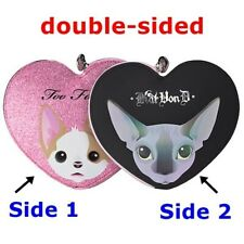 KAT VON D and TOO FACED Better Together Double-Sided Makeup Bag Case Heart NEW
