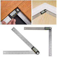 Digital 2 in 1 Angle Finder Guage Meter Ruler Protractor Goniometer 360°8 inch R