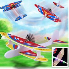 Hand Throw Rechargeable Airplane Aircraft Launch Glider Plane Kids Toy-LED Light