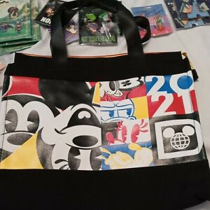 New Disney Mickey Mouse Canvas Tote Bag - Zippered NEW with Tags $29 Retail