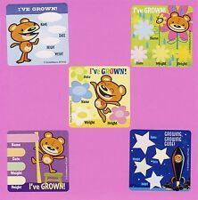 10 Medical Bear I've Grown Height and Weight - Large Stickers - Party Favors