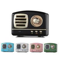 Retro Mini Bluetooth Speaker Vintage Wireless Stereo Support FM Radio TF Cards