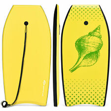 "41"" Lightweight Bodyboard Surfing w/Leash EPS Core Boarding IXPE for Sea Yellow"