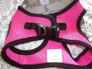 Step-In PINK Blk Mesh HARNESS Dog S M L XL New puppy No Choke free XLarge