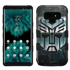 for Samsung Galaxy Note 9, Hard+Rubber Rugged Cover Case Transformer #W