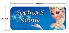 Frozen Elsa Door Plaque 2 - Princess Personalised Childrens Bedroom Sign Girls