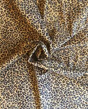 Leopard Print Genuine Leather Hides Suede Thin Lambskin Craft DIY Material F612