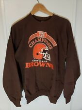 Vintage 1987 AFC Central Division Champions Cleveland Browns Sweater XL NFL