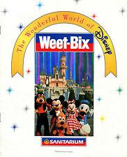WONDERFUL WORLD OF DISNEY WEET-BIX AUSTRALIA PAPER ALBUM FOR 20 CARD SET RARE