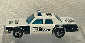 Vtg 1970 Matchbox Superfast Plymouth Gran Fury Metro Police Traffic Control Car