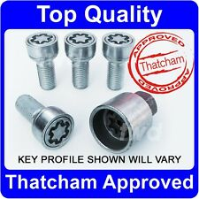 4 X QUALITY ALLOY WHEEL LOCKING BOLTS FOR AUDI (M14x1.5) SECURITY LUG NUT b[R0e]