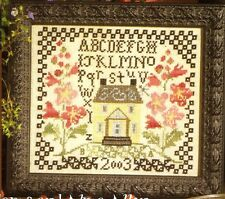 "EP Blackbird Designs ""Evening Shades the Garden"" Counted Cross Stitch Pattern"
