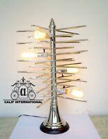 1950's Vintage mid century style sputnik brass table lamp lighting 4 bulb lamp