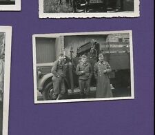 Luftwaffe Soldiers and Military Truck - Vintage German War WWII Photo
