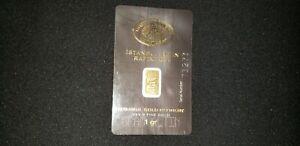 2x1Gram 999.9 Fine Gold Bullion - Istanbul Gold Refinery
