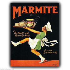 METALLSCHILD WANDTAFEL MARMITE Vintage Retro poster kunstdruck kitsch bild