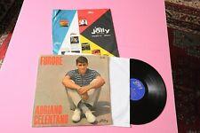 CELENTANO LP FURORE ORIGINALE 1960 EX COPERTINA INTERNA ORIG JOLLY !!!!!!!!!!!