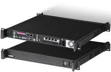 """1U (D:14.4"""")(80PLUS 300W PSU)(Micro-ATX / ITX)(Rackmount Chassis) 4xBay Case NEW"""
