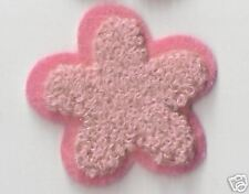 """1.5"""" Pink Chenille Flower Embroidery patch"""