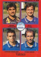 N°386 LECLERC / TERZIAN ASOA.VALENCE VIGNETTE PANINI FOOTBALL 97 STICKER 1997