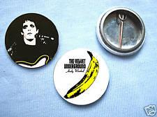 Lou Reed - The Velvet Underground 2 badge Set Bowie
