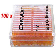 100 Pack New Funcional Gel de Sílice Desecante Humedad Para Absorber Caja Reutilizable