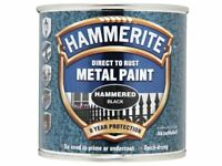 Hammerite Hammered Finish Direct To Rust Metal Paint Black 250ML5084792 New