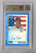 COREY SEAGER 2010 BOWMAN CHROME BLUE REF AUTO RC #5/99 BGS 9.5 10 JSY NUMBER 1/1